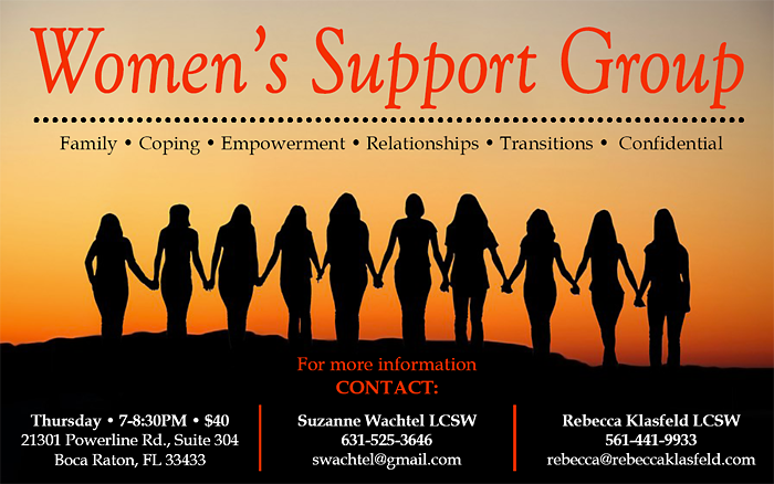 Rebecca Klasfeld, LCSW Women's Support Group Boca Raton FLA